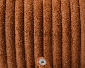 Round Leather cord. 5mm. Camel. Hollow. Inn.1.5mm.approx. Best Quality.