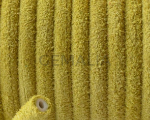 Round Leather cord. 5mm. Yellow. Hollow. Inn.1.5mm.approx. Best Quality.