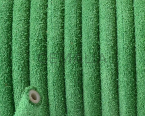 Round Leather cord. 5mm. Green. Hollow. Inn.1.5mm.approx. Best Quality.