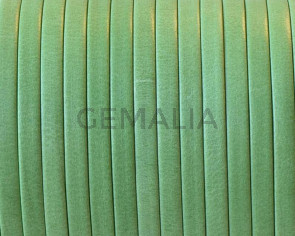 Flat Leather cord. 3x1mm. Denver. Green. Best Quality.