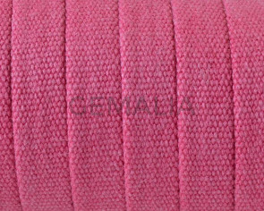 Jeans cloth Flat cord. 10x2mm. Fuchsia. Best Quality.
