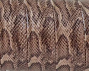 Cloth Flat Cord. 16mm. Snake engraved. Beige. Best Quality.