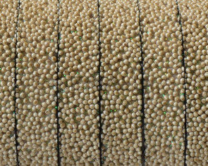 Flat Synthetic Caviar. 10x2.2mm. Beige2. Best Quality.