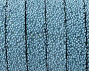 Flat Synthetic Caviar. 10x2.2mm. Light blue. Best Quality.