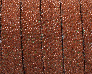 Flat Synthetic Caviar. 10x2.2mm. Brown2. Best Quality.