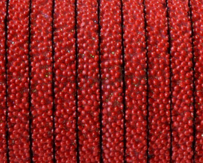 Flat Synthetic Caviar. 5x2mm. Red. Best Quality.