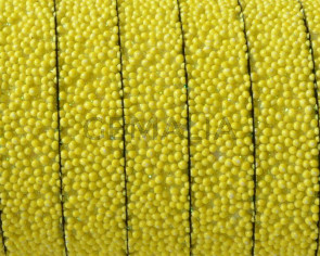 Flat Synthetic Caviar. 10x2mm. Yellow. Best Quality.