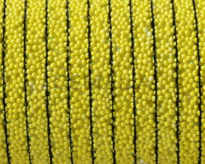 Flat Synthetic Caviar. 5x2mm. Yellow. Best Quality.