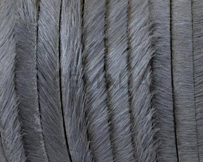 Colored cow hair Flat leather cord. 5x1.5mm. Grey. Best Quality.