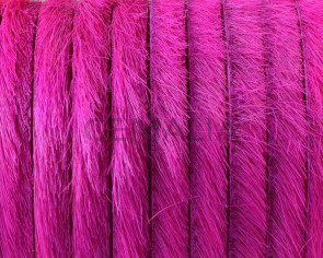 Colored cow hair Flat leather cord. 5x1.5mm. Fuchsia. Best Quality.