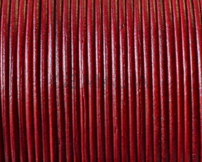 Kangaroo Leather Round Cord. 1mm.  Red. Best Quality.