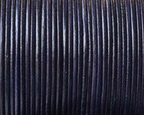 Kangaroo Leather Round Cord. 1mm. Navy blue. Best Quality.