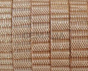 Flat Leather cord. 10x1.5mm. Beige-brilliantine. Best Quality.