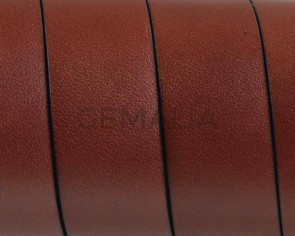 Flat Leather cord. 20x1.5mm. Dark Brown. Best Quality.