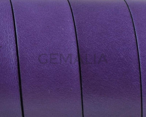 Flat Leather cord. 20x1.5mm. Purple-black. Best Quality.