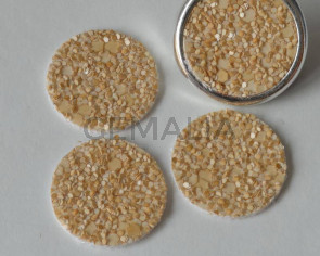 Fancy Cabochon. 20mm. Beige. Best Quality.