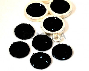 Fancy Cabochon. 15mm. Black. Best Quality.
