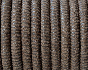 Round Leather cord. 5mm. Hollow. Light brown. Inn.1mm.