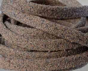 Flat Leather cord. 5x1.5mm. Sand colour. Best Quality.