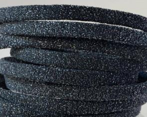 Flat Leather cord. 5x1.5mm. Black. Best Quality.