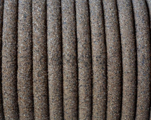 Round Leather cord. 5mm. Hollow. Sand colour. Inn.1.5mm.Best Quality.