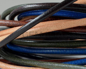 Round Leather cord. 3mm. MIX. Best Quality. 1m strands