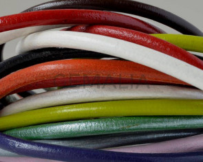 Round Leather cord. 4.5mm. MIX. Best Quality. 20cm strand