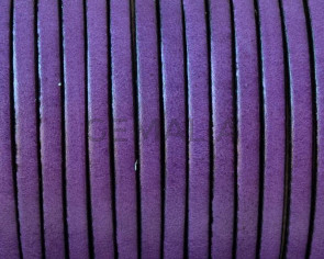 Flat Leather. 3x1.5mm. Purple. Best Quality