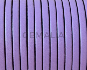 Flat Leather. 3x1.5mm. Violet. Best Quality