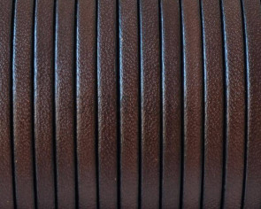 Flat Leather. 3x1.5mm. Dark brown. Best Quality