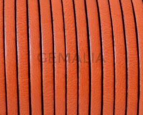 Flat Leather. 3x1.5mm. Orange. Best Quality