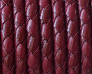 Bolo Braided Round Leather Cord. 5mm. Burdeous. Best Quality.