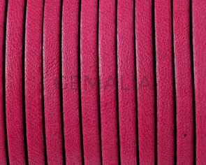 Flat Leather cord. 3x1,5mm. Fucsia. Best Quality.