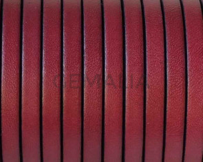 Flat leather cord 5x1,5mm. Burdeous. Best Quality.