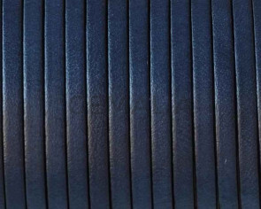 Flat leather cord 3x1,5mm. Navy Blue. Best Quality.