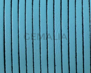 Flat leather cord 3x1,5mm. Blue. Best Quality.
