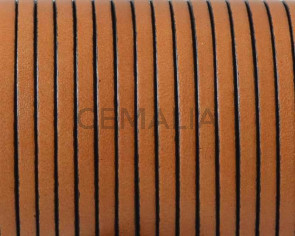 Flat leather cord 3x1,5mm. Light brown. Best Quality.