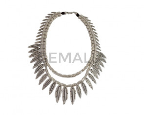 NECKLACE Double feather