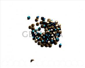 Swarovski. Xilion Chatons 3mm. Metallic Blue.