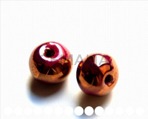 Ceramic. Round, 16mm. Maroon. Int.3.5-4mm..