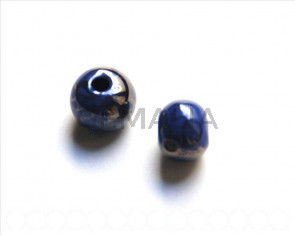 Ceramic. Round, 12mm. Dark violet. Int.3mm.
