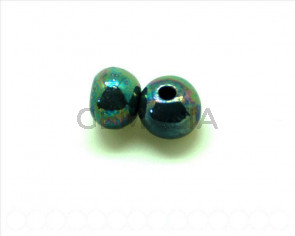 Ceramic. Round 12mm. grey blue. Inn. 3mm approx.