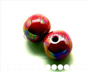 Ceramic. Round 22mm. pink ir. Inn. 4.5-5mm. Approx.