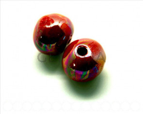 Ceramic. Round 22mm. red ir. Inn. 4.5-5mm. Approx.