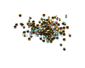 Crystal. Rhinestone Chaton. 2,9-3mm. Crystal AB.