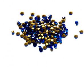 Crystal. Rhinestone Chaton. 4-4,1mm. Sapphire. 144 Ud.