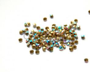 Crystal. Rhinestone Chaton. 4-4,1mm. Crystal AB . 144 Ud.