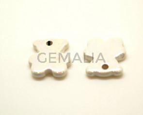 Ceramic. Bear. 27x24mm. White. Ir. Inn.3mm. approx.
