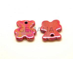 Ceramic. Bear. 27x24mm. Coral. Ir. Inn.3mm. approx.