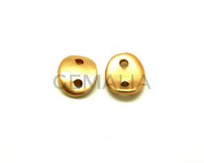 Ceramic. Connector. 30x25mm. Gold mat. Inn.4mm. app.